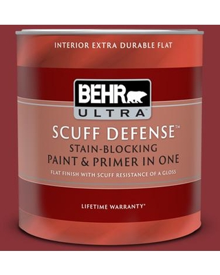 Spectacular Savings On Behr Ultra 1 Qt Qe 07 Country Lane Red Extra Durable Flat Interior Paint And Primer In One
