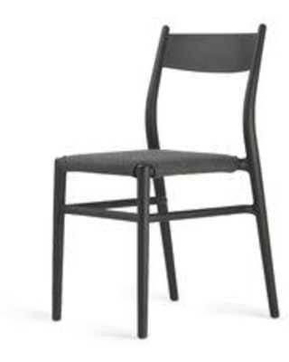 TOOU Joi Thirty-six Upholstered Dining Chair TO-1536 Upholstery Color: Antharacite Finish: Black