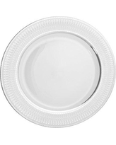 """Astoria Grand Montage 12"""" Charger Plate (Set of 6) ASTG2329 Color: White / Silver"""