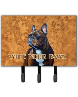 Caroline's Treasures French Bulldog Wipe Your Paws Leash Holder and Key Hook LH9455TH68