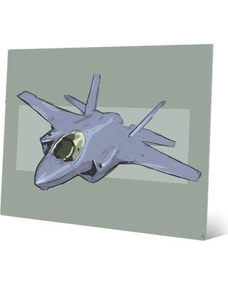 """Click Wall Art 'Fighter on Stone' Graphic Art on Plaque VEH0000104MTL Size: 20"""" H x 24"""" W x 1"""" D"""
