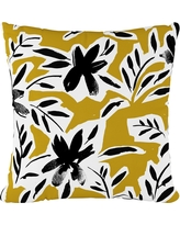 Ochre Floral Throw Pillow - Cloth & Co, Cari Floral Ochre