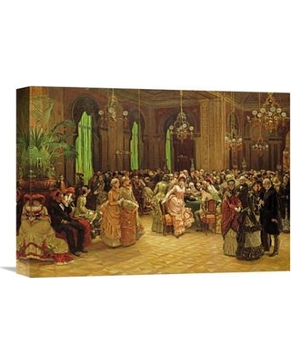 """Global Gallery 'The Casino Monte Carlo' by Christian Ludwig Bokelmann Painting Print on Wrapped Canvas GCS-265954-142 Size: 15.91"""" H x 22"""" W x 1.5"""" D"""
