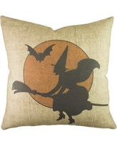 TheWatsonShop Witch with Moon Throw Pillow DFVWITCHMOONBEI