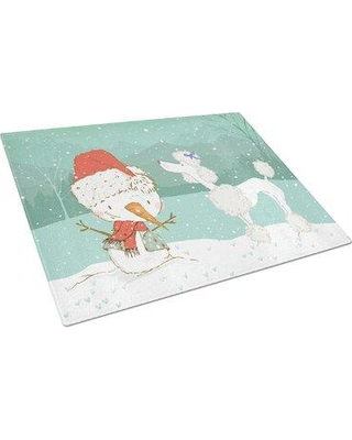 Caroline's Treasures Caroline's Treasures Tempered Glass Snowman Christmas Cutting Board CK2055LCB Dog Breed: White Poodle