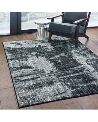 Avalon Home Logan Distressed Abstract Area Rug or Runner, Multiple Sizes