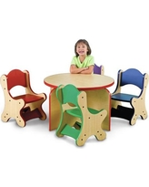 Playscapes Friends 5 Piece Table & Chair Set in Brown, Size 21.0 H x 40.0 W x 40.0 D in | Wayfair 25-RST-220