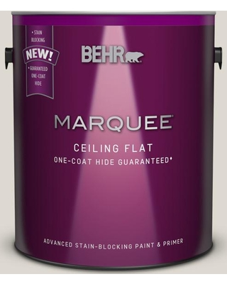 BEHR MARQUEE 1 gal. #MQ3-18 Ginger Sugar One-Coat Hide Ceiling Flat Interior Paint and Primer in One