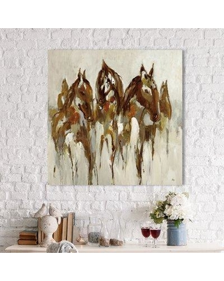 """Red Barrel Studio 'Equestrian' Painting Print on Wrapped Canvas RBRS4410 Size: 36"""" H x 36"""" W"""
