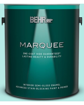 BEHR MARQUEE 1 gal. #P450-2 Tahitian Breeze Semi-Gloss Enamel Interior Paint and Primer in One