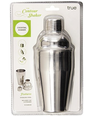 Stainless Steel Countour Cocktail Shaker - 18 Oz