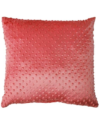 Baby Doll Bedding Heavenly Soft Crib Throw Pillow, Hot Pink
