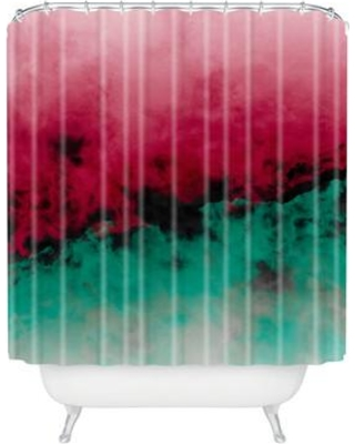 Deny Designs Caleb Troy Zero Visibility Poinsettia Ombre Shower Curtain 51897 Shocur