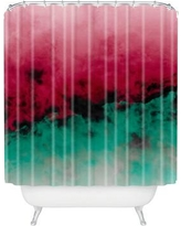 Deny Designs Caleb Troy Zero Visibility Poinsettia Ombre Shower Curtain 51897-shocur