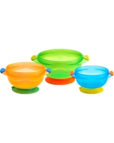 Munchkin 3pk Stay-Put Suction Bowls, Multi-Colored