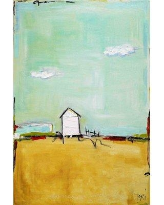 """Marmont Hill 'Happiness Everyday' by Tori Campisi Painting Print on Wrapped Canvas MH-TORI-111-C Size: 45"""" H x 30"""" W"""