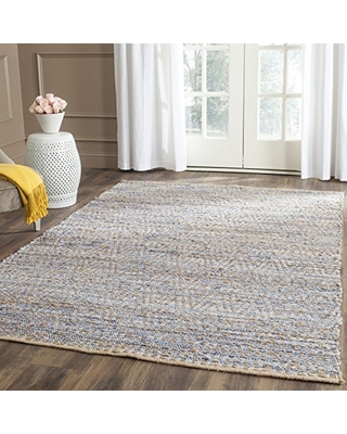 Safavieh Cape Cod Collection CAP351A Hand-Woven Area Rug, 11' x 15', Natural/Blue