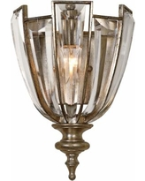 """Uttermost Vicentina 12 3/4"""" High Silver Wall Sconce"""