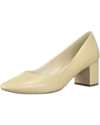 Cole Haan Women's Justine Pump 55MM, Nude Leather, 8 B US