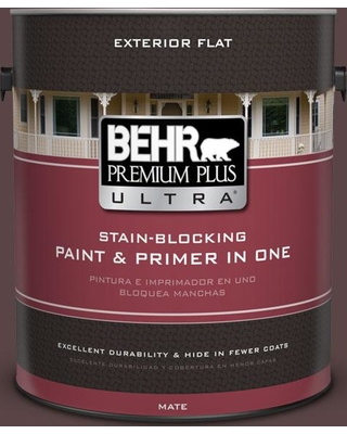 BEHR ULTRA 1 gal. #S-G-790 Bear Rug Flat Exterior Paint and Primer in One