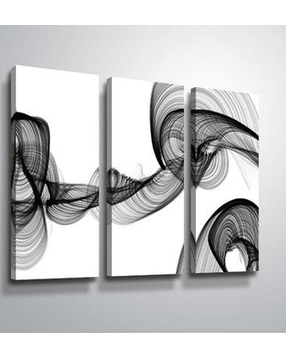 """Orren Ellis 'At That Very Moment' Rectangle Graphic Art Print Multi-Piece Image ORNE5574 Size: 24"""" H x 36"""" W x 2"""" D Format: Wrapped Canvas"""