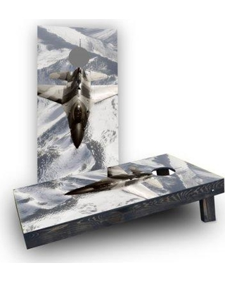 Custom Cornhole Boards Camo Jet Cornhole Boards CCB439-C Bag Fill: Light Weight Boards with All Weather Bags