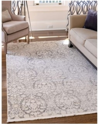 """Unique Loom Tyche New Classical Area Rug (3'3"""" x 5'3"""" - Gray)"""