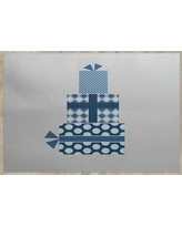 The Holiday Aisle Christmass Gift Gray Indoor/Outdoor Area Rug THLA6916 Rug Size: Rectangle 2' x 3'