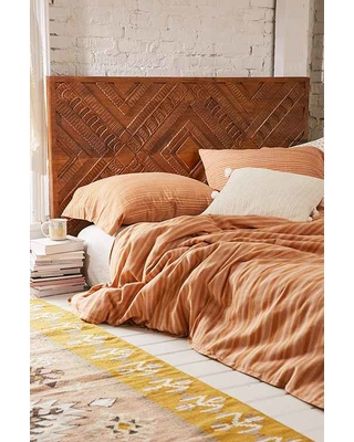 "summer special ""amira carved wood headboard,brown,one size"", Headboard designs"