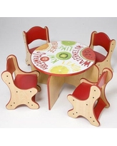 Playscapes Veggie Kids Side Table 25-TBR-033