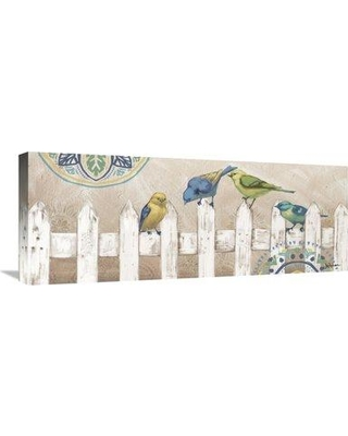 """East Urban Home 'Fly Away IV' Graphic Art Print on Canvas ESUM9749 Size: 16"""" H x 40"""" W"""