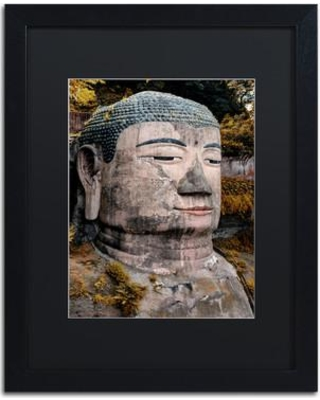 "Trademark Fine Art ""Giant Buddha VI"" by Philippe Hugonnard Framed Photographic Print PH0394-B1 Size: 20"" H x 16"" W x 0.5"" D Matte Color: Black"