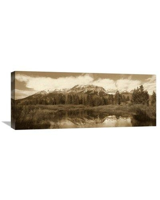 """East Urban Home 'Easely Peak Boulder Mountains Idaho' Photographic Print on Wrapped Canvas GCS-450508- Size: 12"""" H x 30"""" W x 1.5"""" D"""