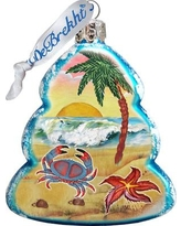 The Holiday Aisle Tree Crab Coastal Glass Ornament THLY6747
