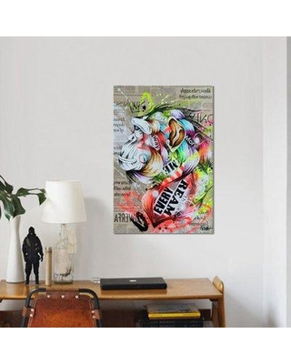 """East Urban Home 'Visionary II' Graphic Art Print on Wrapped Canvas ESRB9468 Size: 40"""" H x 26"""" W x 0.75"""" D"""