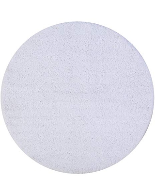 """Better Trends Micro Collection is Ultra Soft Plush and Absorbent Tufted Bath Mat Rug 100 Percent Polyester in Vibrant Colors, 30"""" Round, White"""