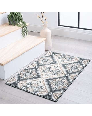 Alise Rugs Carrington Traditional Floral Area Rug (2' x 3' - Gray)