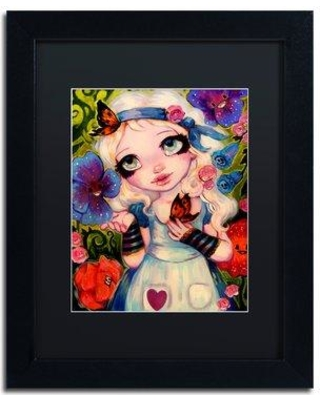 "Trademark Art 'The Talking Flowers' Framed Painting Print ALI5494-B1 Matte Color: Black Size: 14"" H x 11"" W x 0.5"" D"