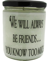 "StarHollowCandleCo ""We Will Always be Friends..."" Orange Clove Jar Candle QJFRIENDSOC"