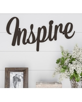 """""""Inspire"""" Decorative Wall Sign Natures Brown - Lavish Home"""