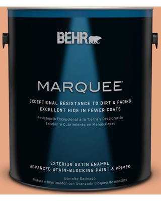 BEHR MARQUEE 1 gal. #240D-4 Ceramic Glaze Satin Enamel Exterior Paint and Primer in One