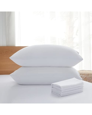 Acanva Bed Pillows 2 Pack Hotel Collection Luxury Soft Inserts for Sleeping-Breathable and Comfortable for Stomach Back Sleepers, King Size with Cover, White