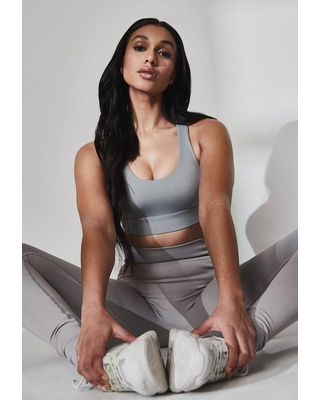 Recycled Gray Functional Sports Bra