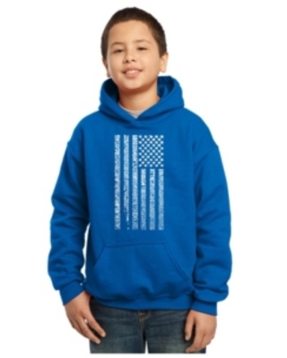 La Pop Art Boy's Word Art Hoodies - National Anthem Flag