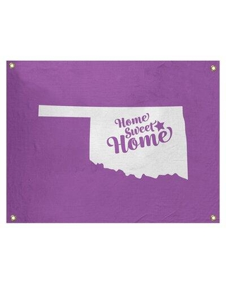 "East Urban Home Sweet Home Tulsa Wall Tapestry EBJB7022 Size: 26"" H x 36"" W Color: Violet"