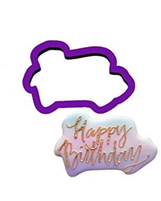 Happy Birthday Words Cookie Cutter - Birthday Cookie Cutters - Word Cookie Cutters - Fondant Cutters - Polymer Clay Cutters - Craft Cutters