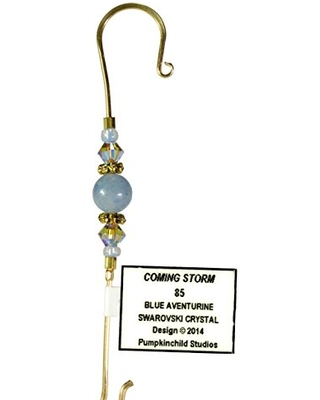 Handmade Jeweled Christmas Ornament Hook- COMING STORM