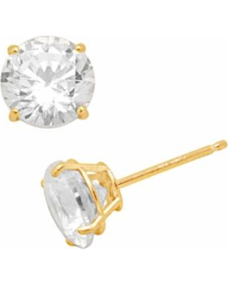 7d5bcb846 Renaissance Collection 10k Gold 3-ct. T.W. Stud Earrings - Made with  Swarovski Zirconia