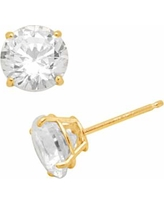 Renaissance Collection 10k Gold 3-ct. T.W. Stud Earrings - Made with Swarovski Zirconia, Women's, White
