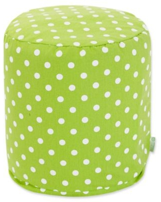 Majestic Home Goods™ Cotton Small Polka Dot Ottoman in Lime